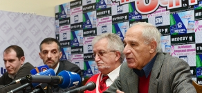Press conference of Mkrtich Minasyan, Ashot Hambardzumyan, Sedrak Baghdasaryan and Garegin Gharagyozyan