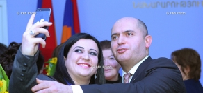 Armenian Education and Science Minister Armen Ashotyan awards teachers on occasion of Int'l Women's Day