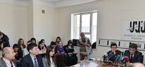 Social-political discussion  with the participation of  Poland's ambassador to Armenia Jerzy Nowakowski