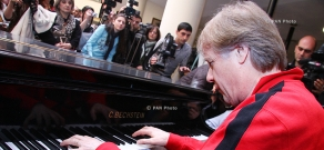 Press conference of French pianist Richard Clayderman