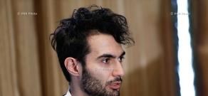 Press conference of pianist, composer Tigran Hamasyan