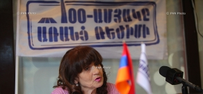 Press conference of freedom fighter Aghavni Sahakyan