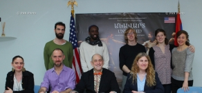 Press conference of dance theater troupe