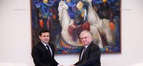 ՀՀ ԱԳ նախարար Էդվարդ Նալբանդյանն ընդունել է Հայաստանում Թուրքմենստանի նորանշանակ դեսպան Մուհամեդնիյազ Մաշալովին