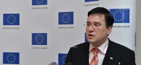 Press conference of Head of EU Delegation to Armenia Traian Hristea
