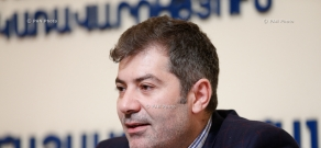 Press conference of Executive director of Armenian National Competitiveness Foundation Arman Khachatryan