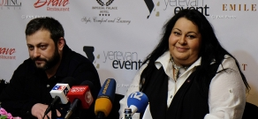 Press conference of Russian-Armenian singer Mariam Merabova