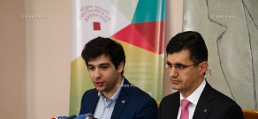 Press conference of VivaCell-MTS CEO Ralph Yirikyan and  Art director and chief conductor of State Youth Orchestra of Armenia Sergey Smbatyan