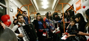 Urban folklore and serenade concerts in Yerevan metro, dedicated to Motherhood and Beauty Day