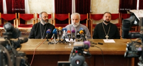 Press conference on canonization ceremony of the Armenian Genocide victims