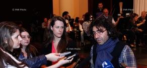 Press conference of Italian violinist Francesca Dego