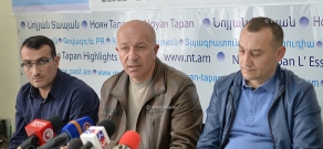 Press conference with the participation of taxi drivers