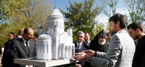 Land for construction of St. Martyrs Church consecrated at Komitas Pantheon