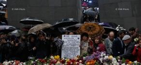 Armenian Genocide Centennial commemoration ceremony at Tsitsernakaberd Memorial