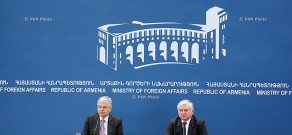 Press conference of Armenian and Belgian Foreign Ministers Edward Nalbandian and Didier Reynders