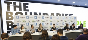 Eurovision 2015. Press conference of Genealogy group