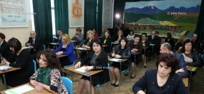 Education and Science Minister Armen Ashotyan participates in the launch of exams for candidates for educational institution administrative posts