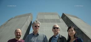 Kronos Quartet visit Armenian Genocide memorial