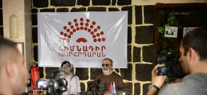 Press conference of Founding Parliament member Alek Yenigomshyan