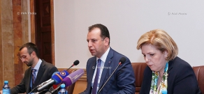 Press conference of the head of the presidential administration, Coordinator of the Armenian Genocide Centennial Events Vigen Sargsyan and RA Minister of Culture Hasmik Poghosyan