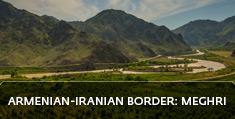 Armenian landscapes: Armenian-Iranian border: Meghri