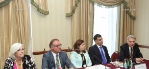 Press conference of Armenak Darbinyan, Pruz Sargsyan, Pavel Medvedev, Marco Franchetti and caroline Mitchell