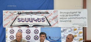 Press conference of Research on Armenian Architecture (RAA) NGO head Samvel Karapetyan and architect Samvel Ayvazyan