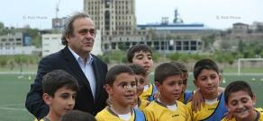 ՈւԵՖԱ-ի նախագահ Միշել Պլատինիի շրջայցը Ֆուտբոլի ակադեմիայում
