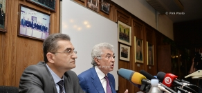 Press conference of the president of Constitutional Court of Armenia Gagik Harutyunyan