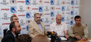 """Press conference of """"Centennial without the regime"""" movement memebers"""