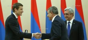 Церемония вручения премии Президента Армении за 2014 год