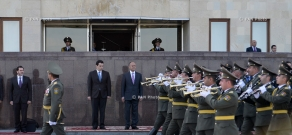 Официальная церемония приветствия делегации во главе с Министром национальной обороны Кипра Христофоросом Фокаидисом