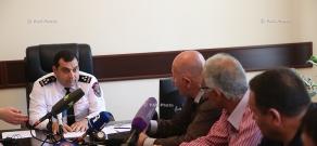 Пресс-конференция заместителя начальника Полиции, полковника Самвела Ованисяна
