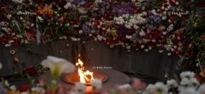 April 25: Armenian Genocide Centennial commemoration ceremony at Tsitsernakaberd Memorial