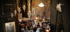 Blessing of Children service at St. Hovhannes Church