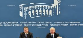 Joint press conference of Armenian Minister of Foreign Affairs Edward Nalbandyan and OSCE Chairperson, First Deputy Prime Minister and Minister of Foreign Affairs of Serbia Ivica Dačić