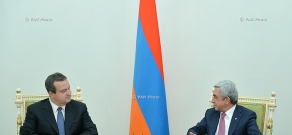 Armenian President Serzh Sargsyan receives OSCE Chairperson, First Deputy Prime Minister and Minister of Foreign Affairs of Serbia Ivica Dačić