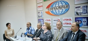 Press conference of national minorities'  representatives  living in Armenia