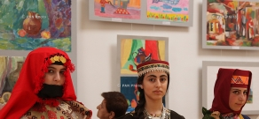 Opening of exhibition of works by students of art schools in Yerevan and regions of Armenia