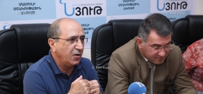 Press conference of National security party leader Garnik Isagulyan and Heritage Party vice-president Armen Martirosyan