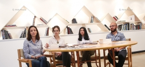 Press conference of delegation,  representing Armenia at Prague Quadrennial of Performance Design and Space