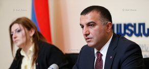 Press conference of RA Minister of Labor and Social Affairs Artem Asatryan