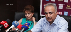 Press conference of Sevak Avagyan,  Armenian Bone Marrow Donor Registry Director