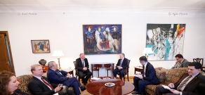 RA Minister of Foreign Affairs Edward Nalbandyan receives co-rapporteurs of the Parliamentary Assembly of the Council of Europe for the monitoring of Armenia