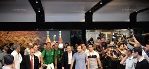 Portugal football team arrives in Yerevan