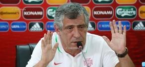 Press conference of Portugal football team's coach Fernando Santos