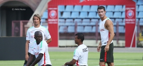 Open training of Portugal football team