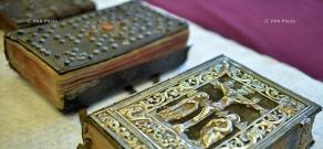 Exposition of Matenadaran's silver bindings restored by  Robert Stehle  and Margaret Yashke