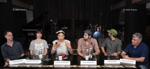 Press conference of Deti Picasso band members