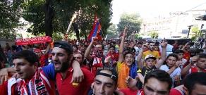 Armenian fans before Armenia vs Portugal football match